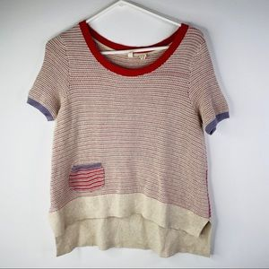 Anthropologie Moth short sleeve sweater, Size S